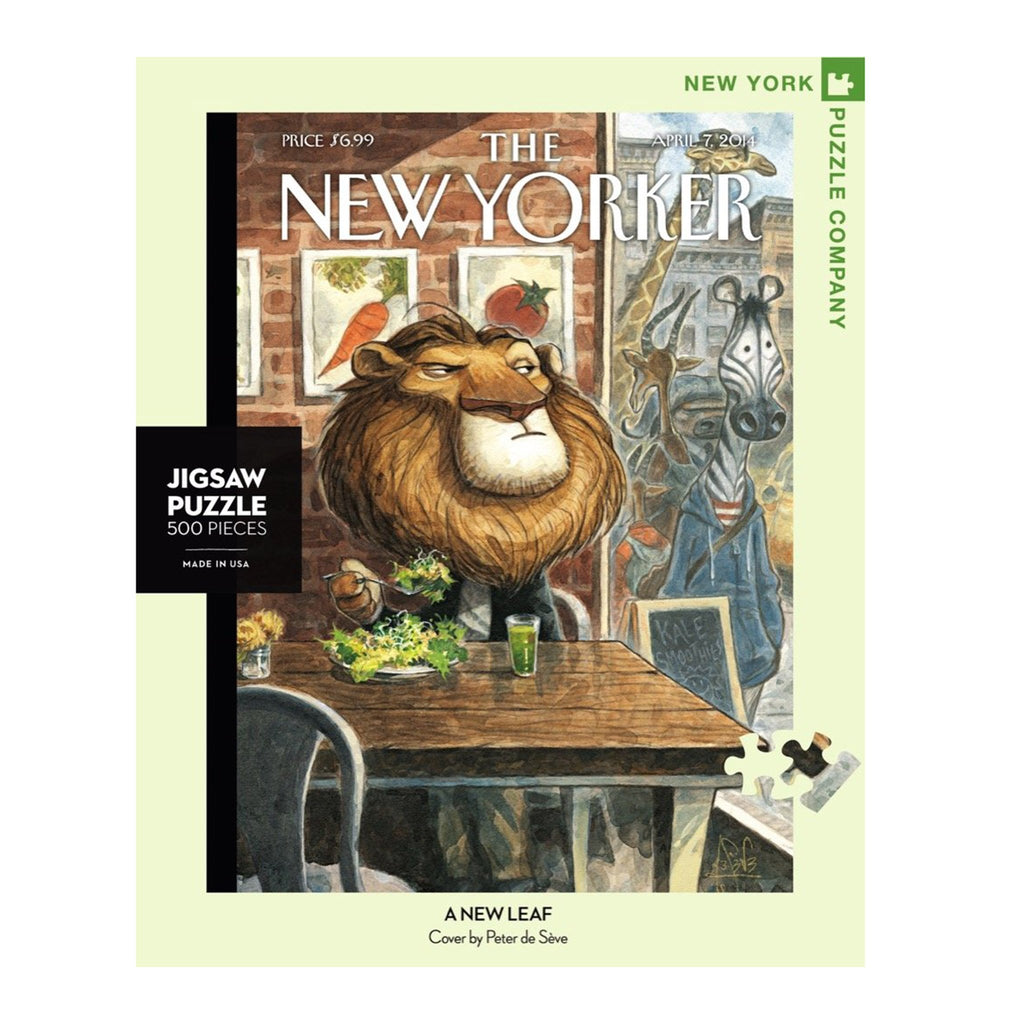 new york puzzle company 500 piece a new leaf new yorker cover jigsaw puzzle box front