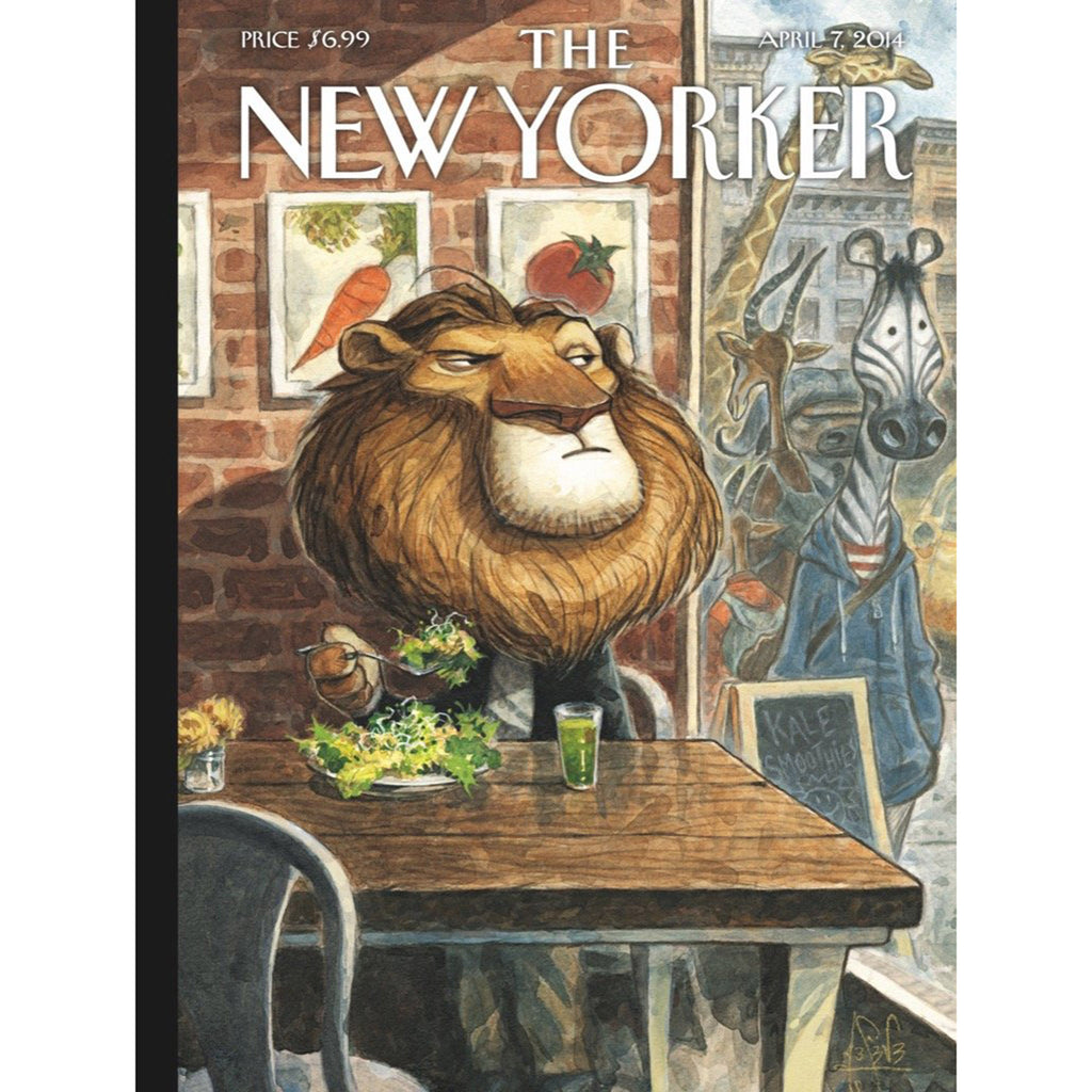 new york puzzle company 500 piece a new leaf new yorker cover jigsaw puzzle magazine cover