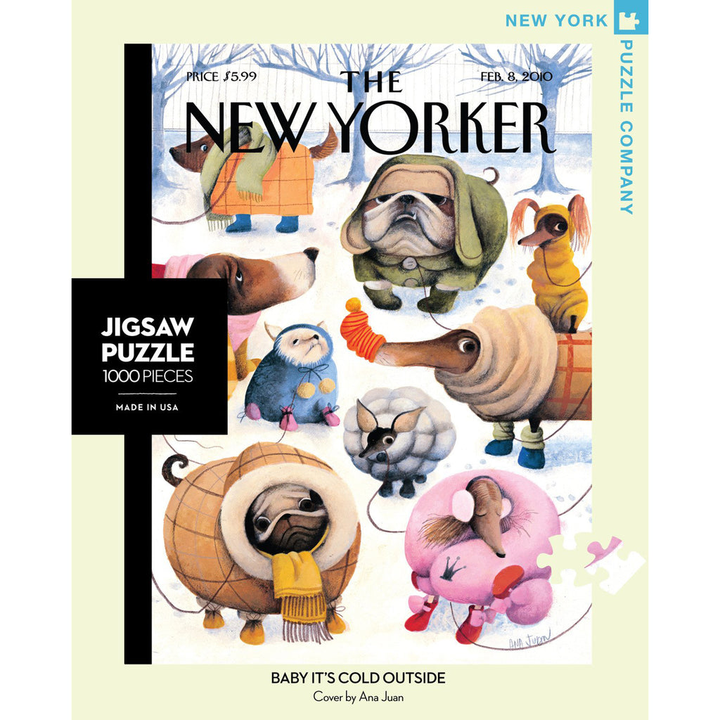 1000 piece new yorker cover baby it's cold outside jigsaw puzzle