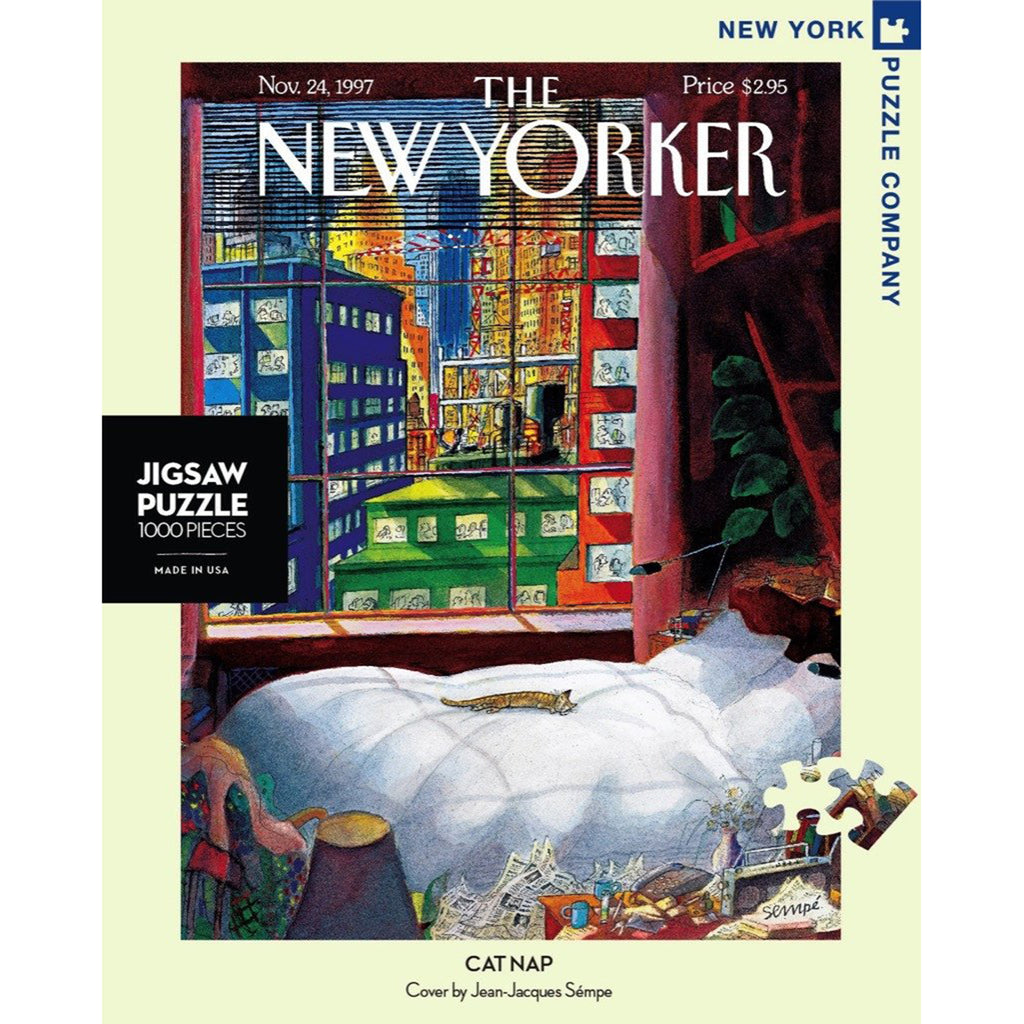 1000 piece new yorker cover cat nap jigsaw puzzle