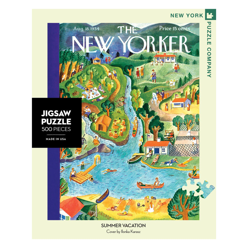 new yorker summer vacation jigsaw puzzle