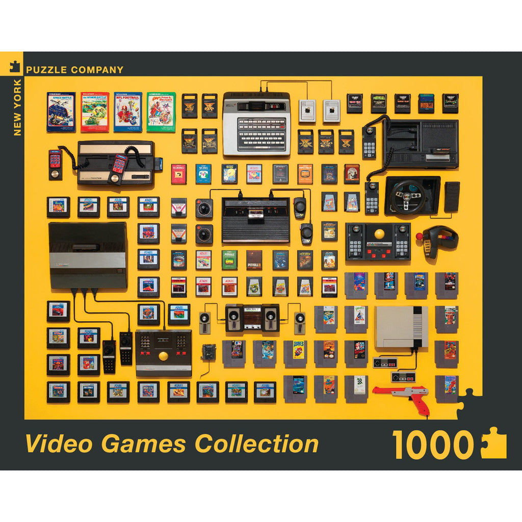 1000 piece video games collection jigsaw puzzle