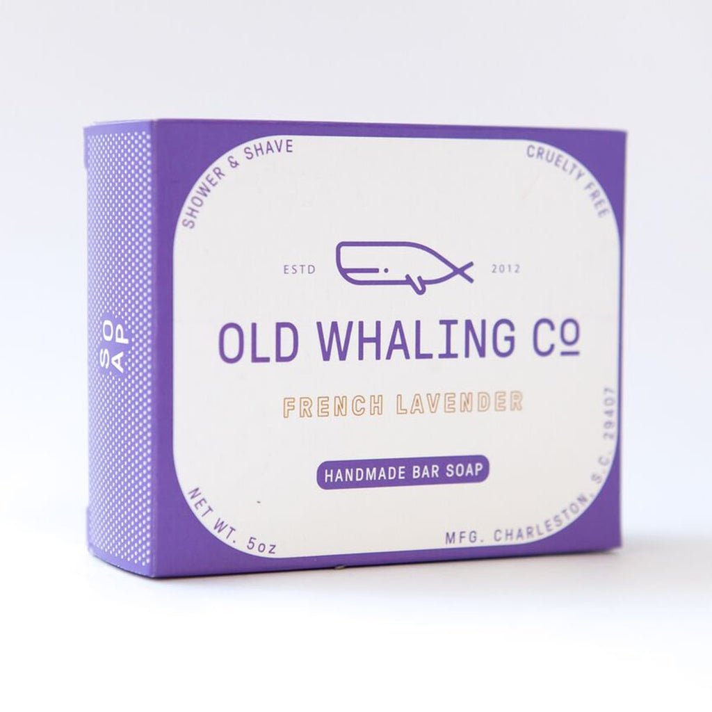 old whaling company french lavender bar soap box