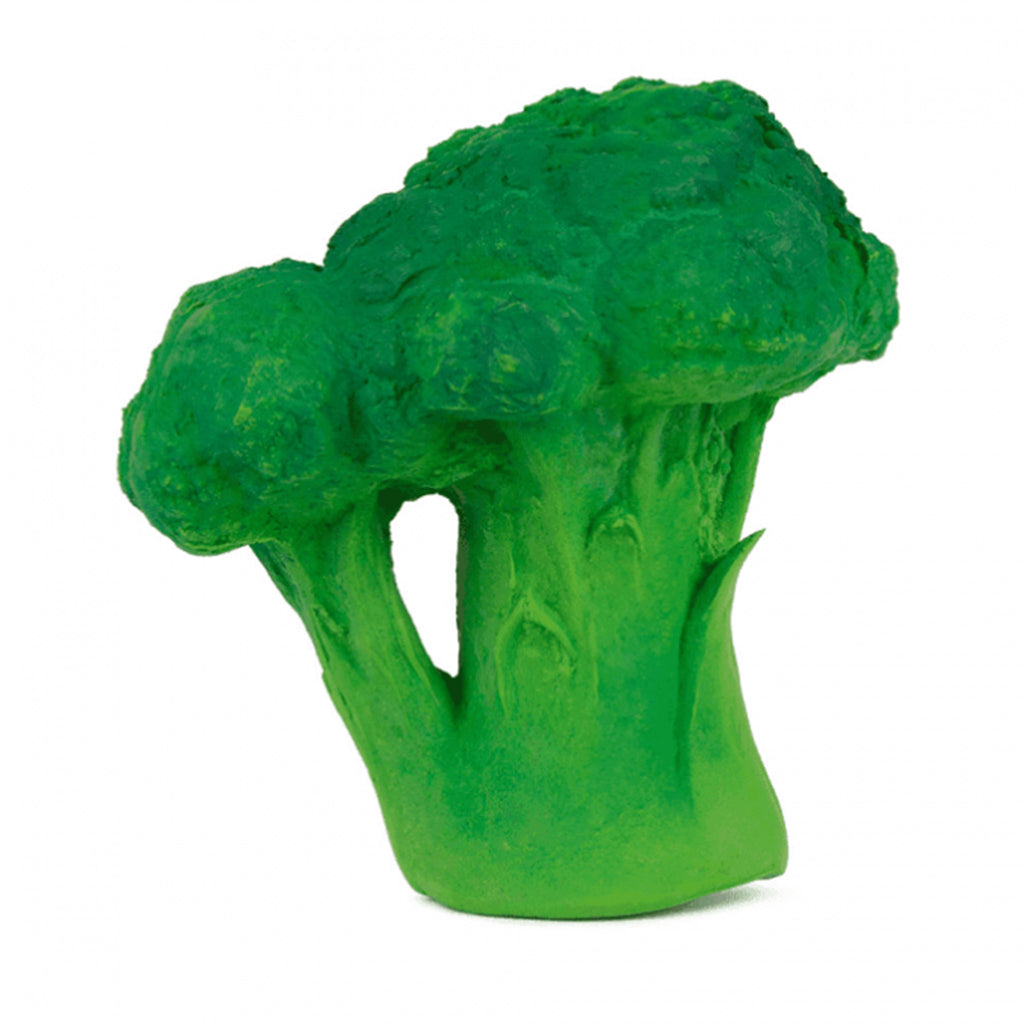 oli and carol brucy the broccoli natural rubber bath toy and teether