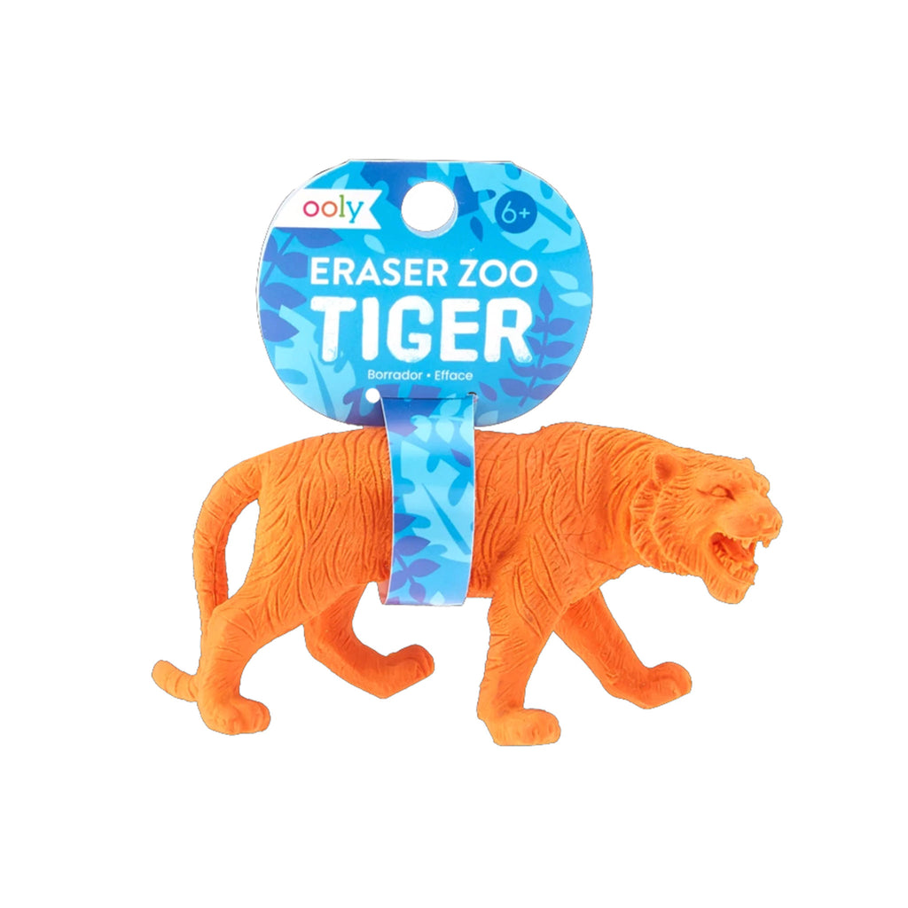 ooly jumbo pencil eraser zoo tiger