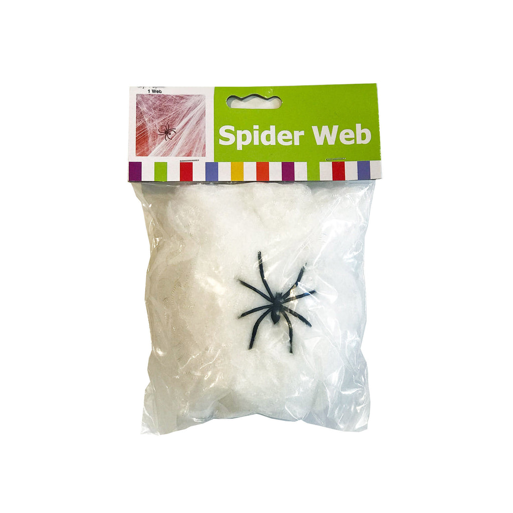 oriental trading company stretchable decorative spider web with spider halloween decoration