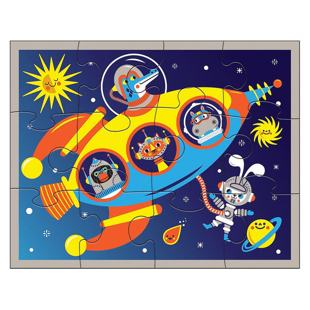 Outer Space Pouch Puzzle Open