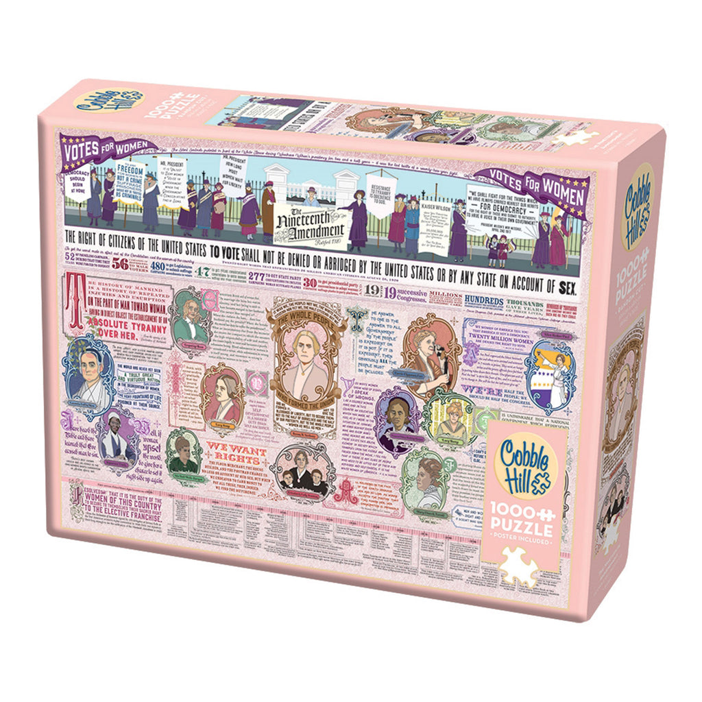 outset 1000 piece the nineteenth amendment jigsaw puzzle box angle