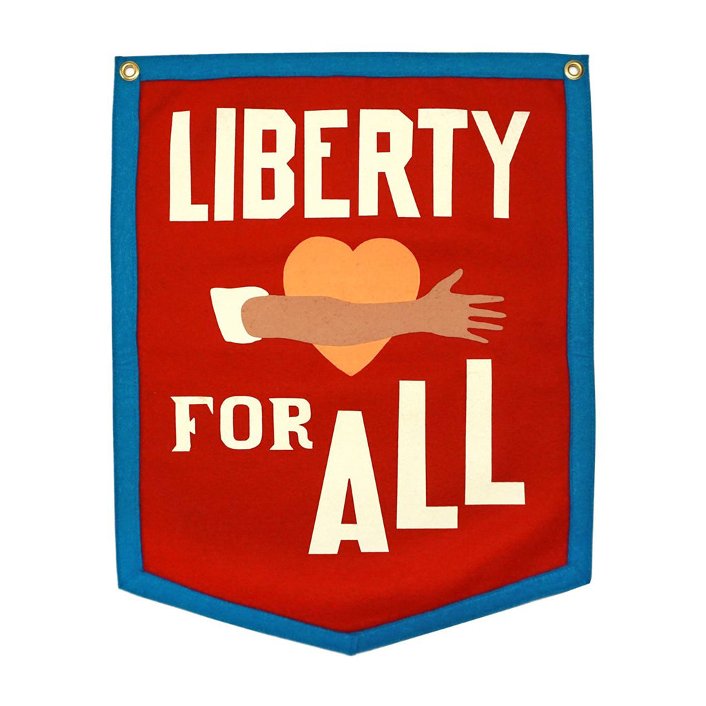oxford pennant liberty for all hanging camp flag wall decor