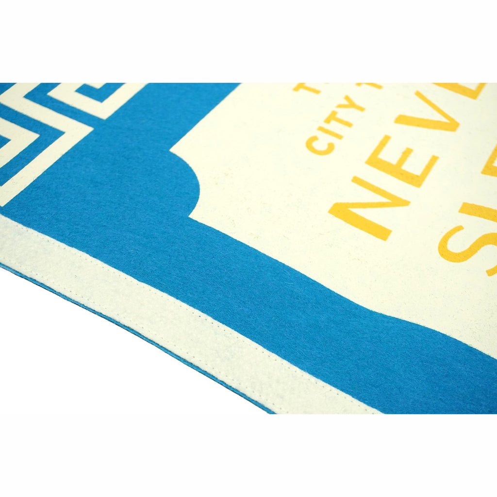 oxford pennant the city that never sleeps camp flag united by blue x true hand society detail