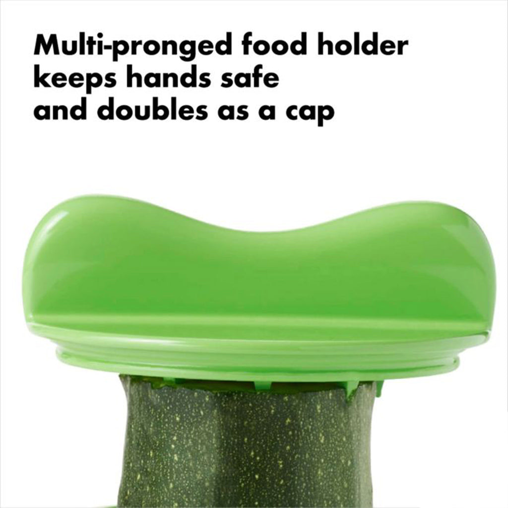 oxo good grips hand-held vegetable spiralizer kitchen tool cap detail