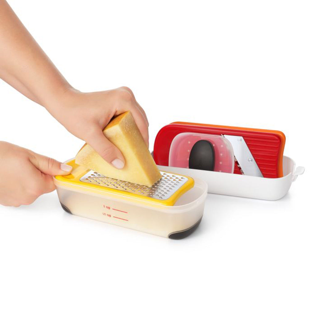 oxo good grips mini grate & slice set of three kitchen tool grating cheese