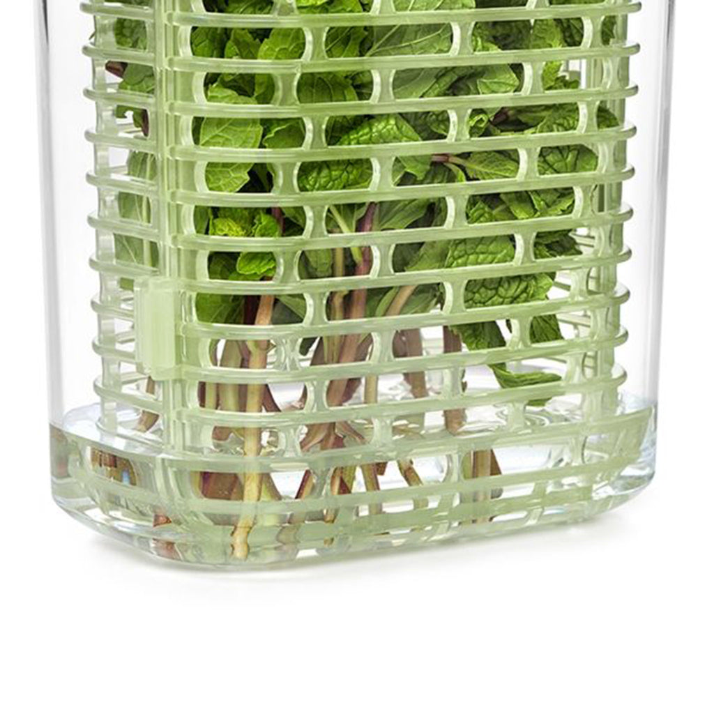 oxo good grips small greensaver herb keeper kitchen storage detail of bottom