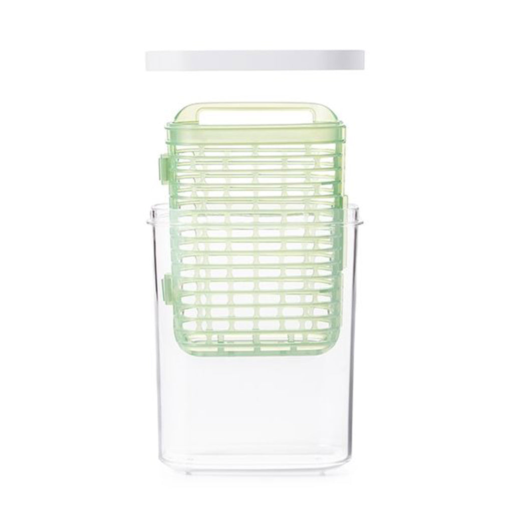 oxo good grips small greensaver herb keeper kitchen storage empty showing components