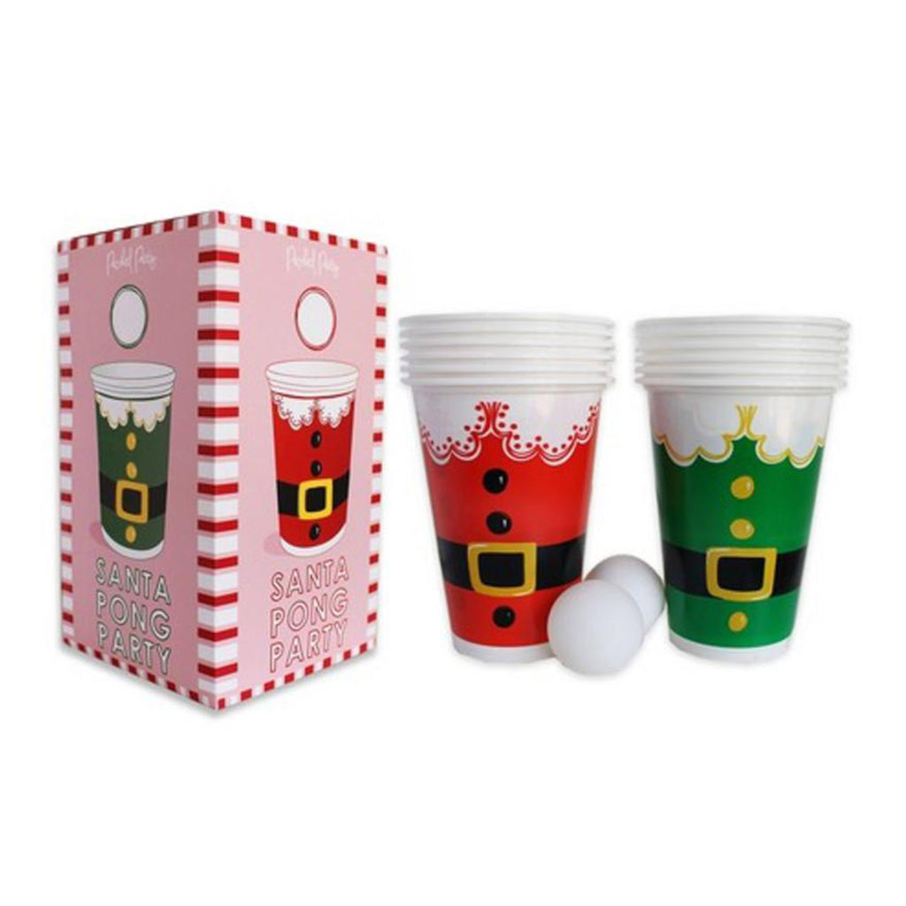 packed party santa party pong game set box and contents
