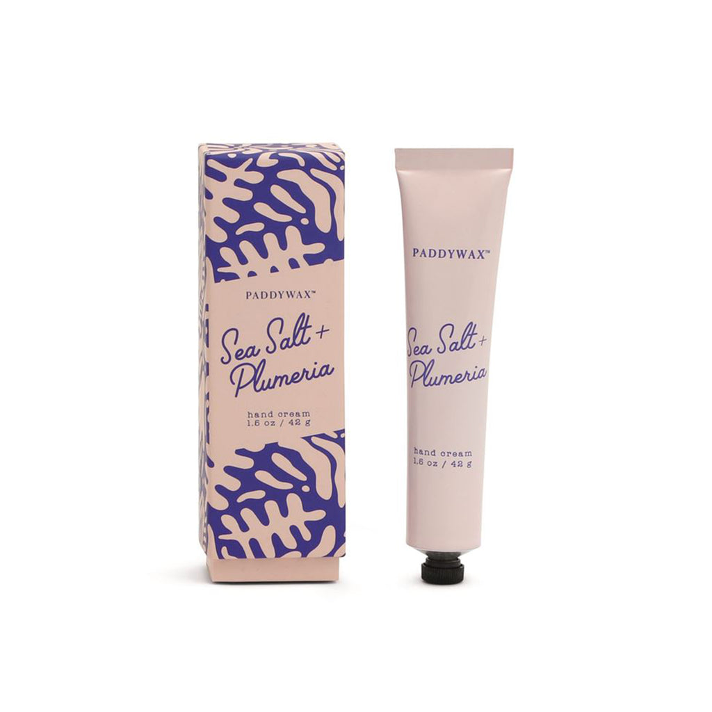 sea salt plumeria scented hand cream