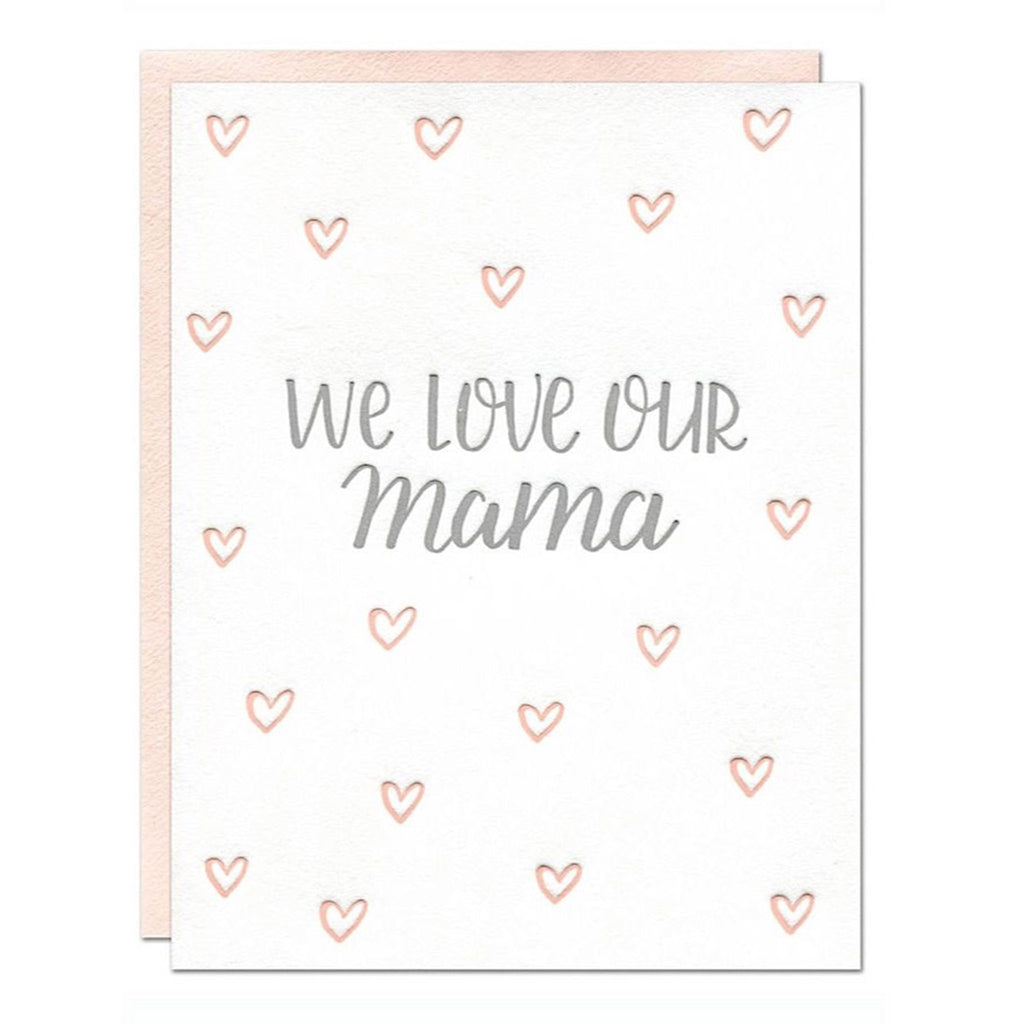 parrott design studio we love our mama hearts mother's day greeting card