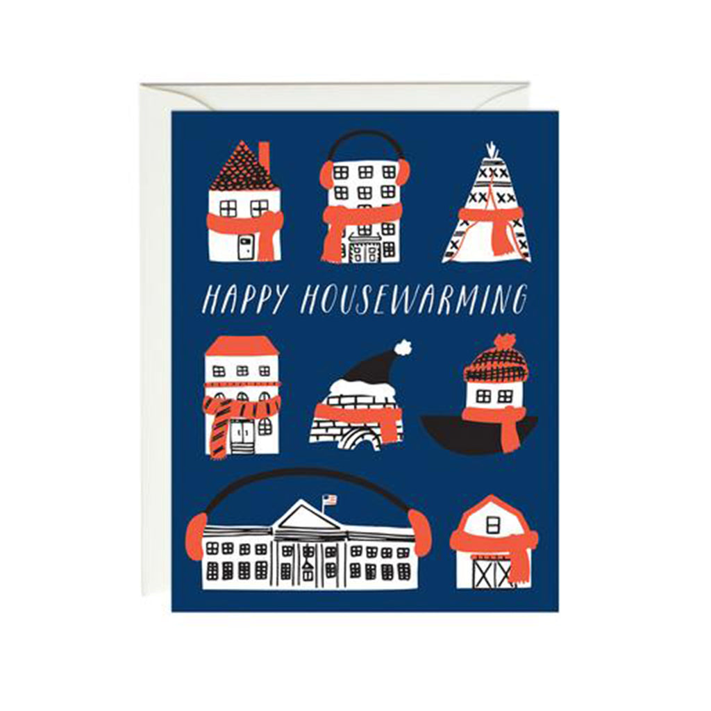 paula and waffle happy housewarming snuggly houses greeting card