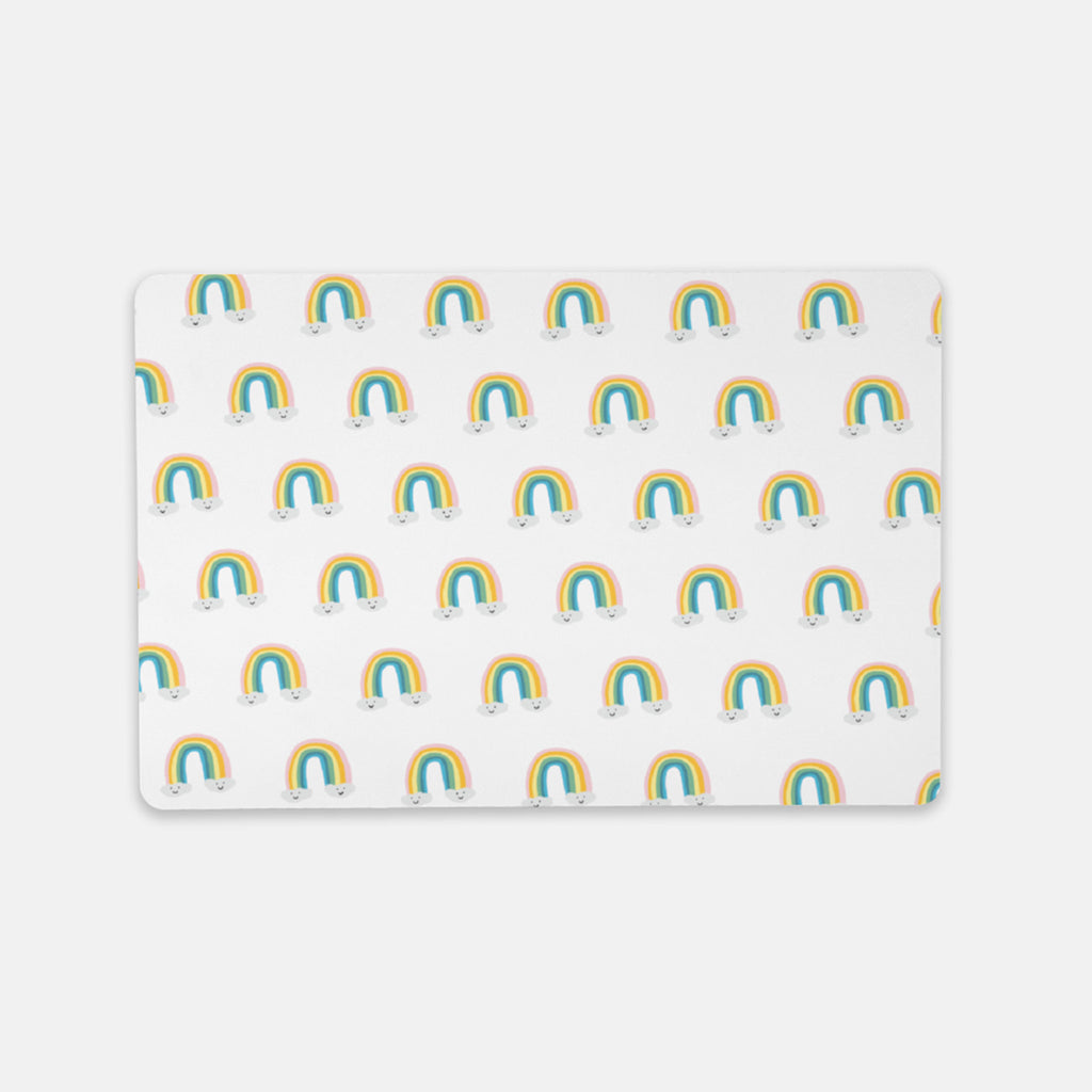 decorative rainbow desk mat pad