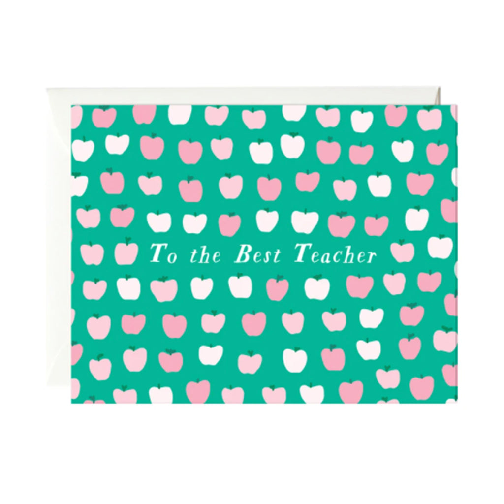 paula & waffle to the best teacher ever blank teacher appreciation greeting card with envelope