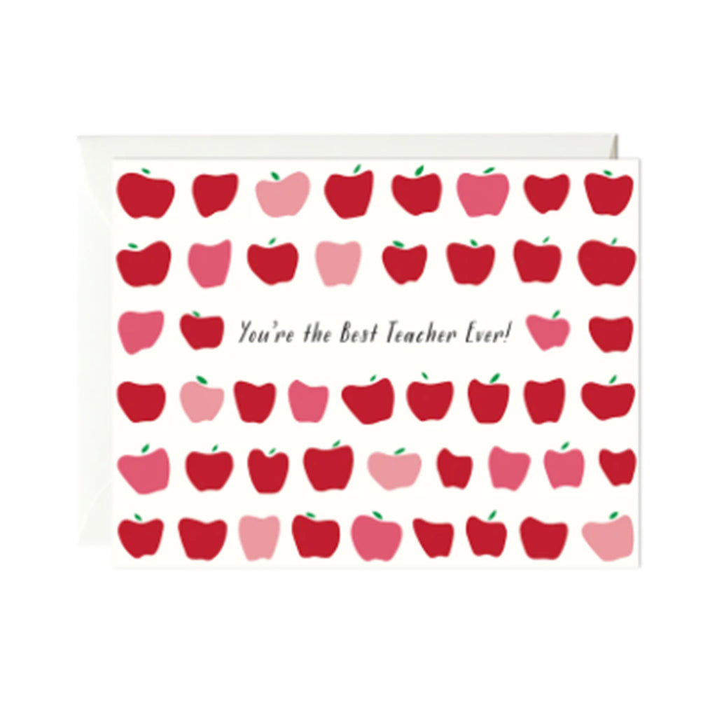 paula & waffle you're the best teacher ever blank teacher appreciation greeting card with envelope