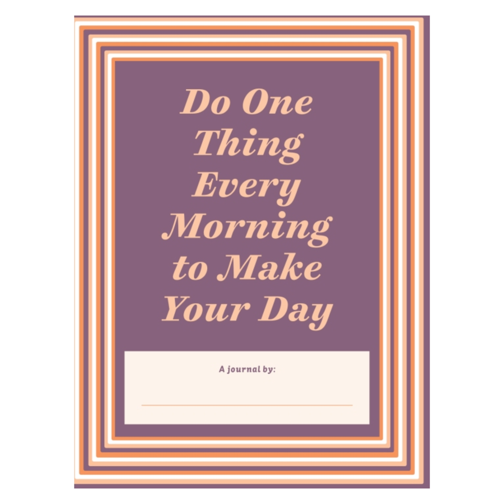 penguin random house do one thing every morning to make your day journal sample page 1