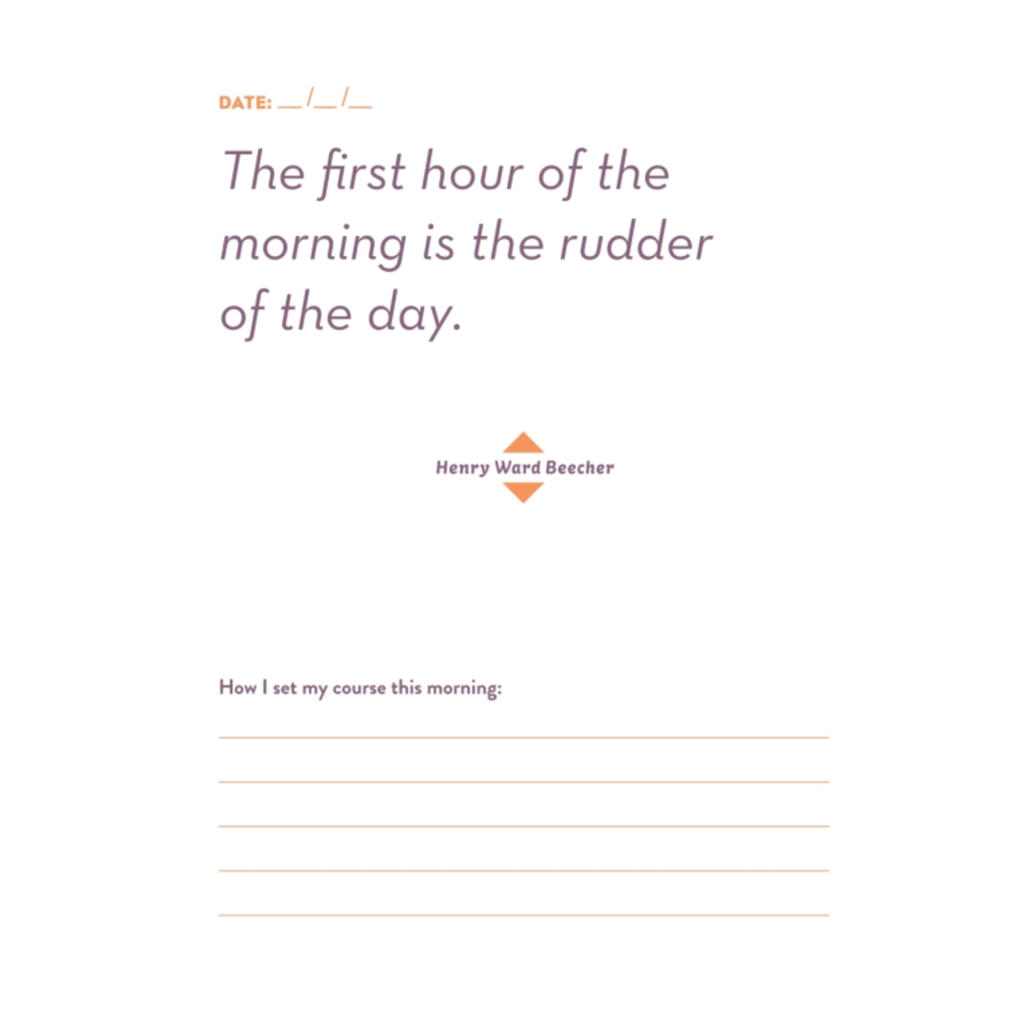 penguin random house do one thing every morning to make your day journal sample page 3
