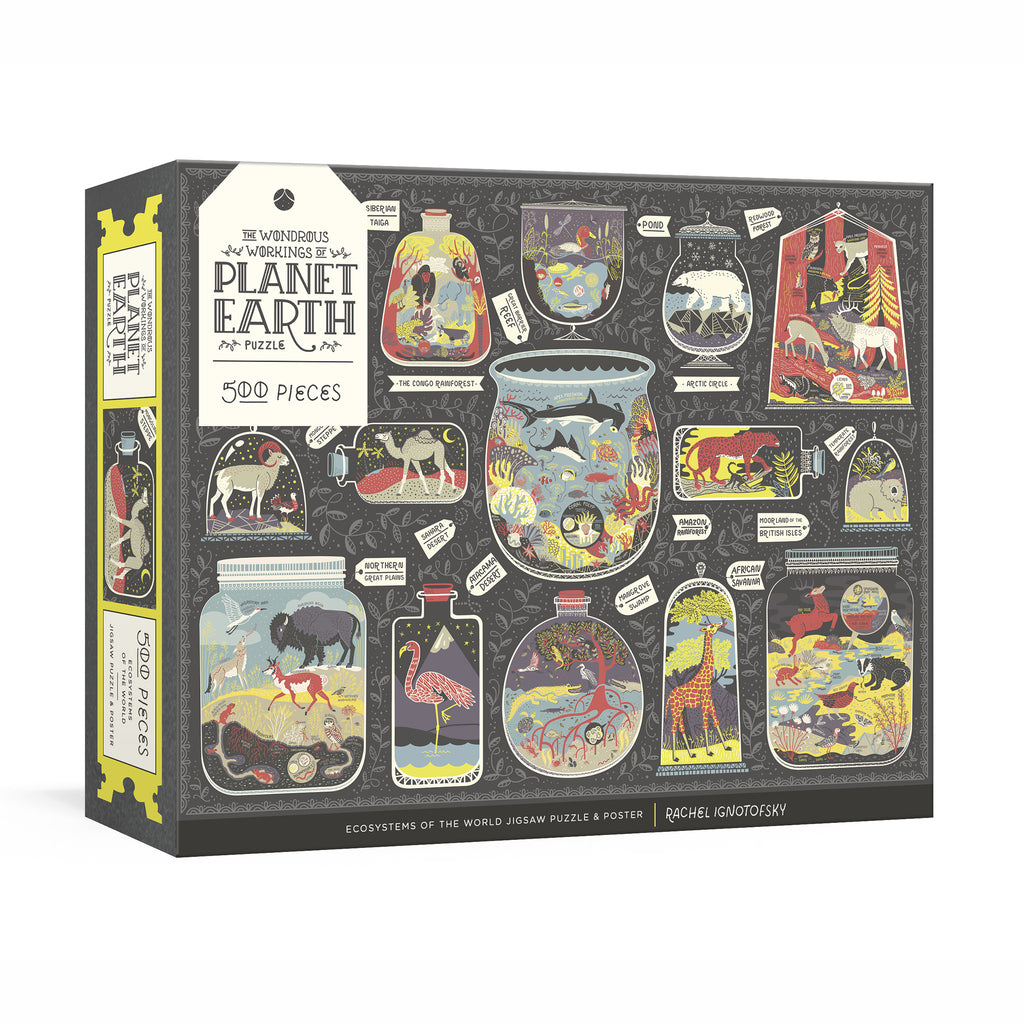 penguin 500 piece the wondrous workings of planet earth jigsaw puzzle box cover
