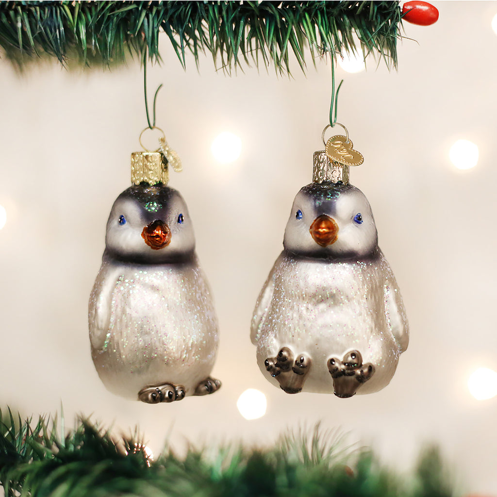 penguin chick ornament