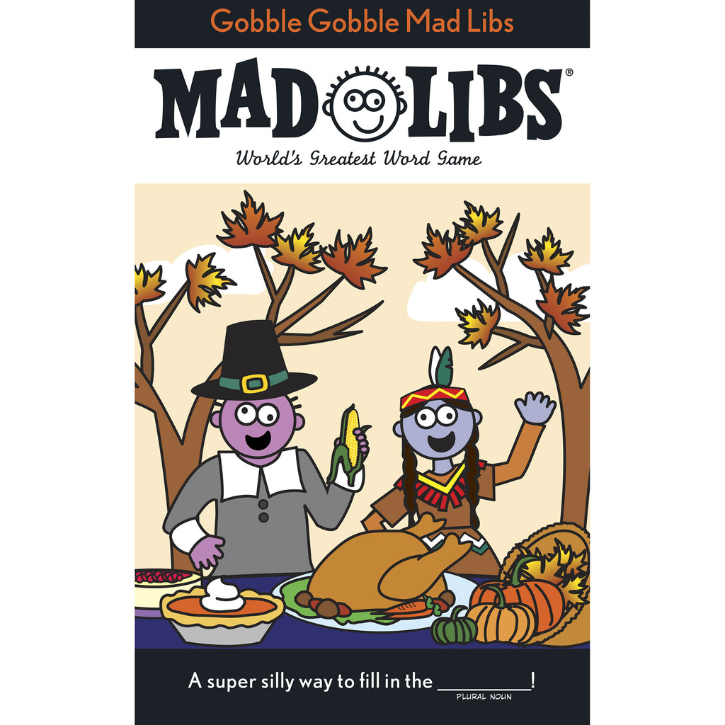 penguin gobble gobble mad libs thanksgiving word game book cover 9780843172928