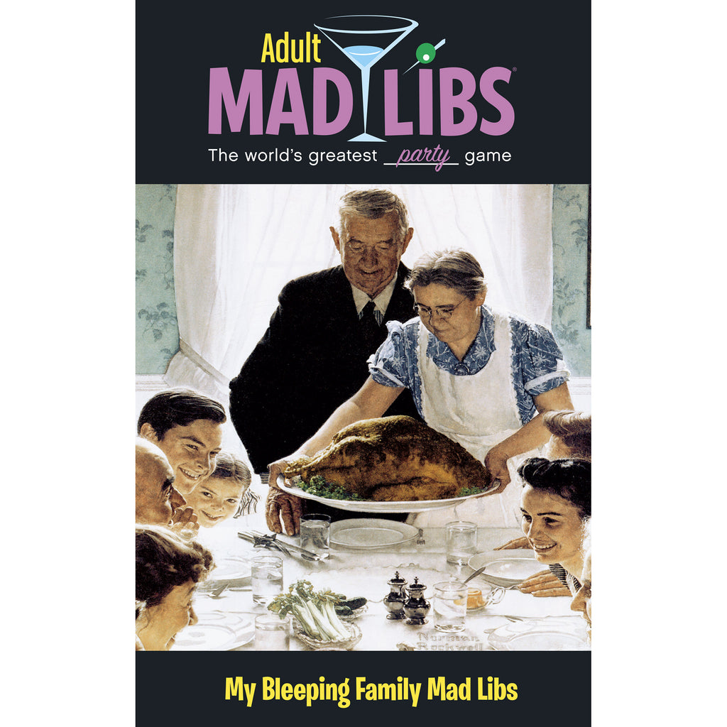 penguin my bleeping family adult mad libs thanksgiving word game book 9780843172850