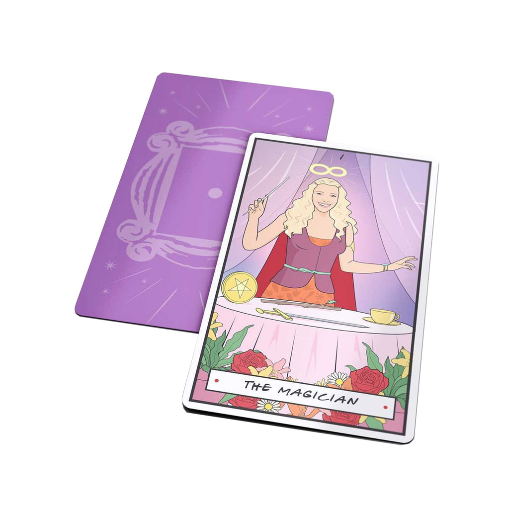 penguin random house friends illustrated tarot cards phoebe as the magician sample card