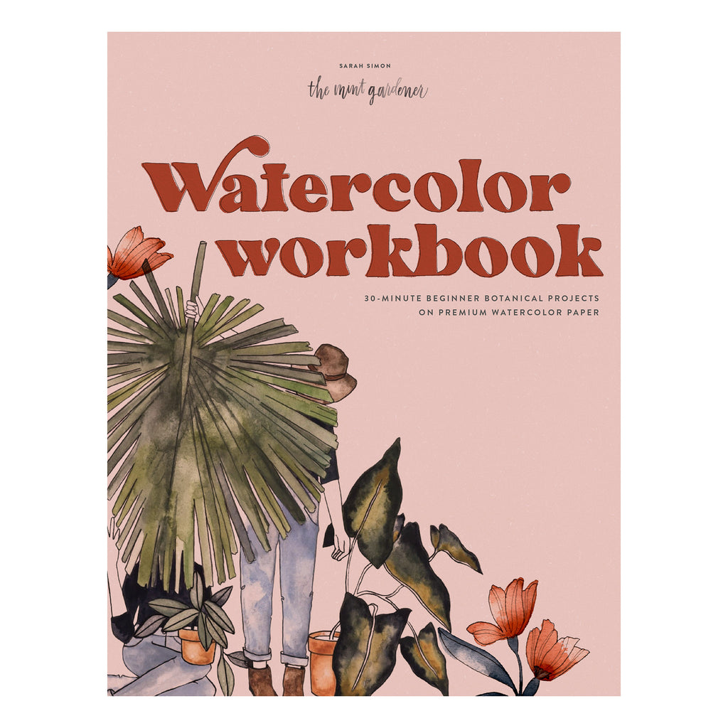 penguin random house watercolor workbook arts & crafts book cover