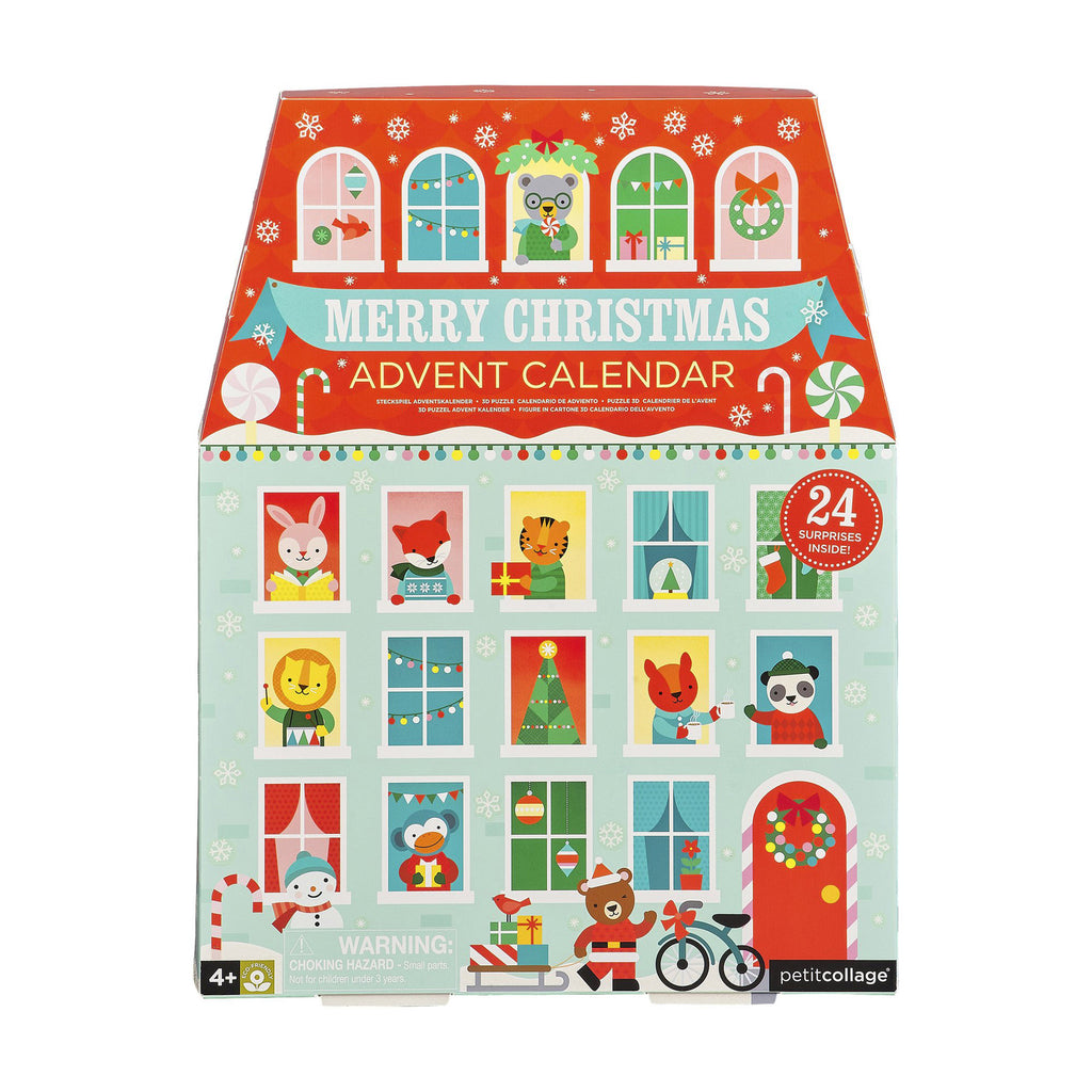petit collage 2019 merry christmas pop out advent calendar playset box
