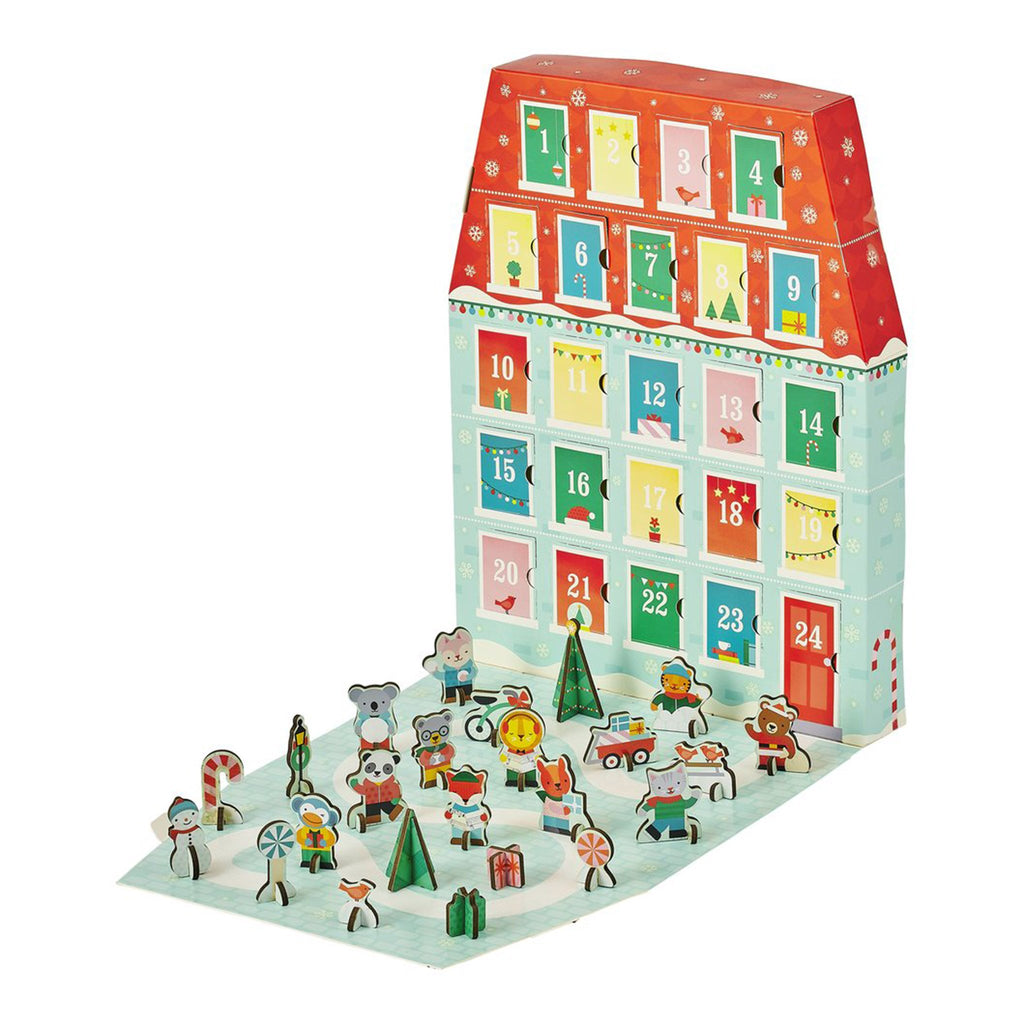 petit collage 2019 merry christmas pop out advent calendar playset box scene with figures