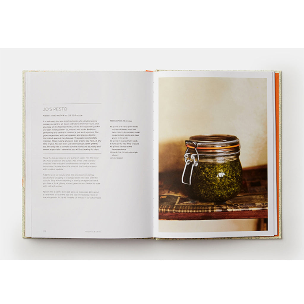 phaidon grow fruit and vegetables in pots planting advice and recipes from great dixter garden pesto recipe sample page