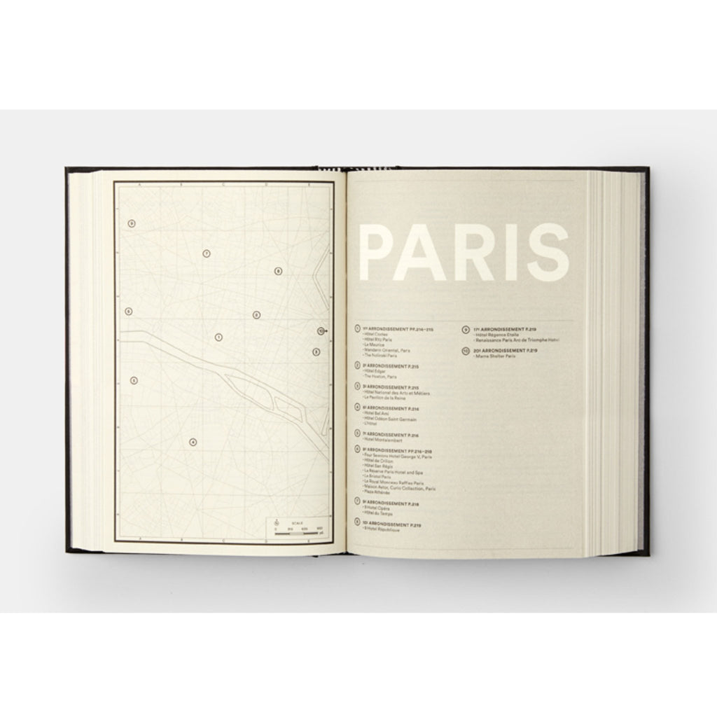 phaidon where architects sleep the most stylish hotels in the world architecture book paris sample page