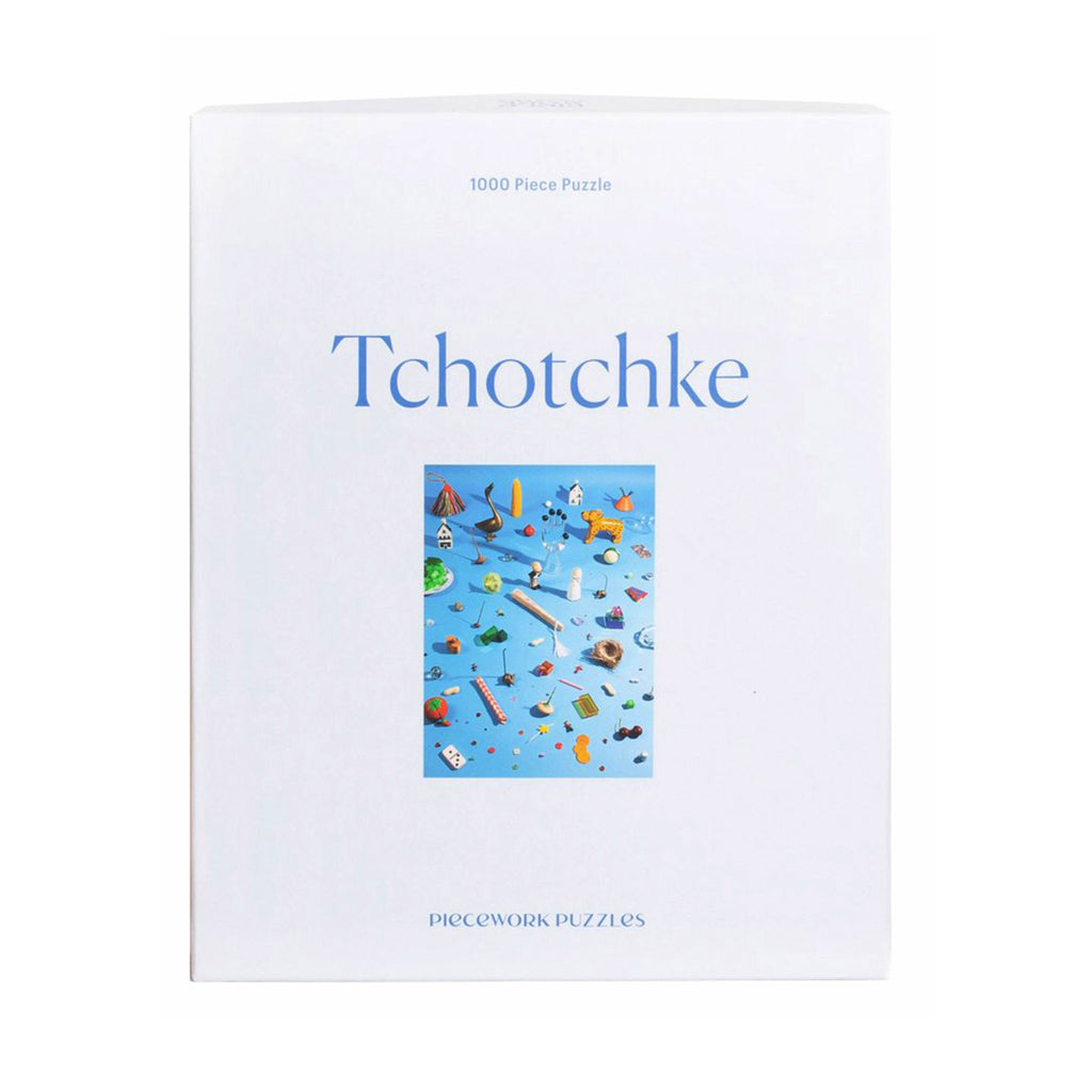 piecework puzzles 1000 piece tchotchke jigsaw  puzzle in packaging