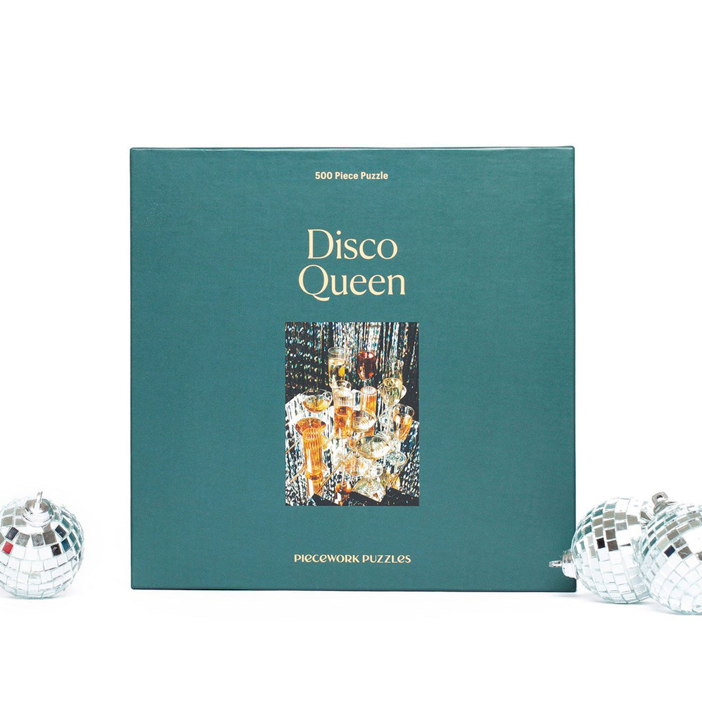piecework puzzles 500 piece disco queen jigsaw  puzzle in packaging