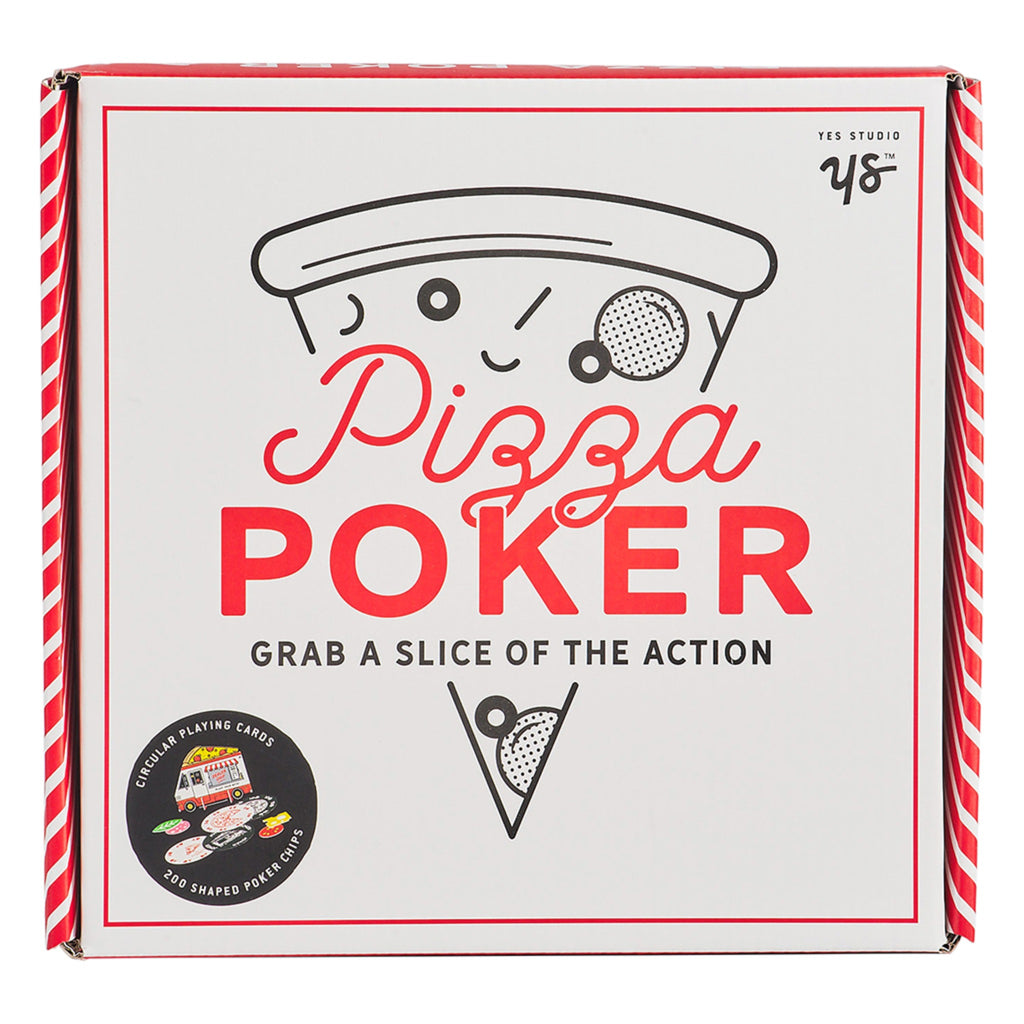 pizza themed poker set stored in pizza box