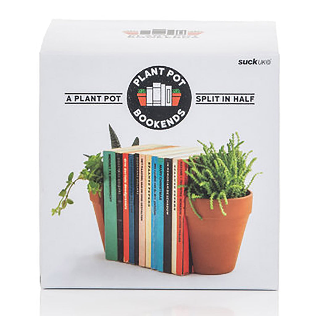 suck uk plant pot bookends box front