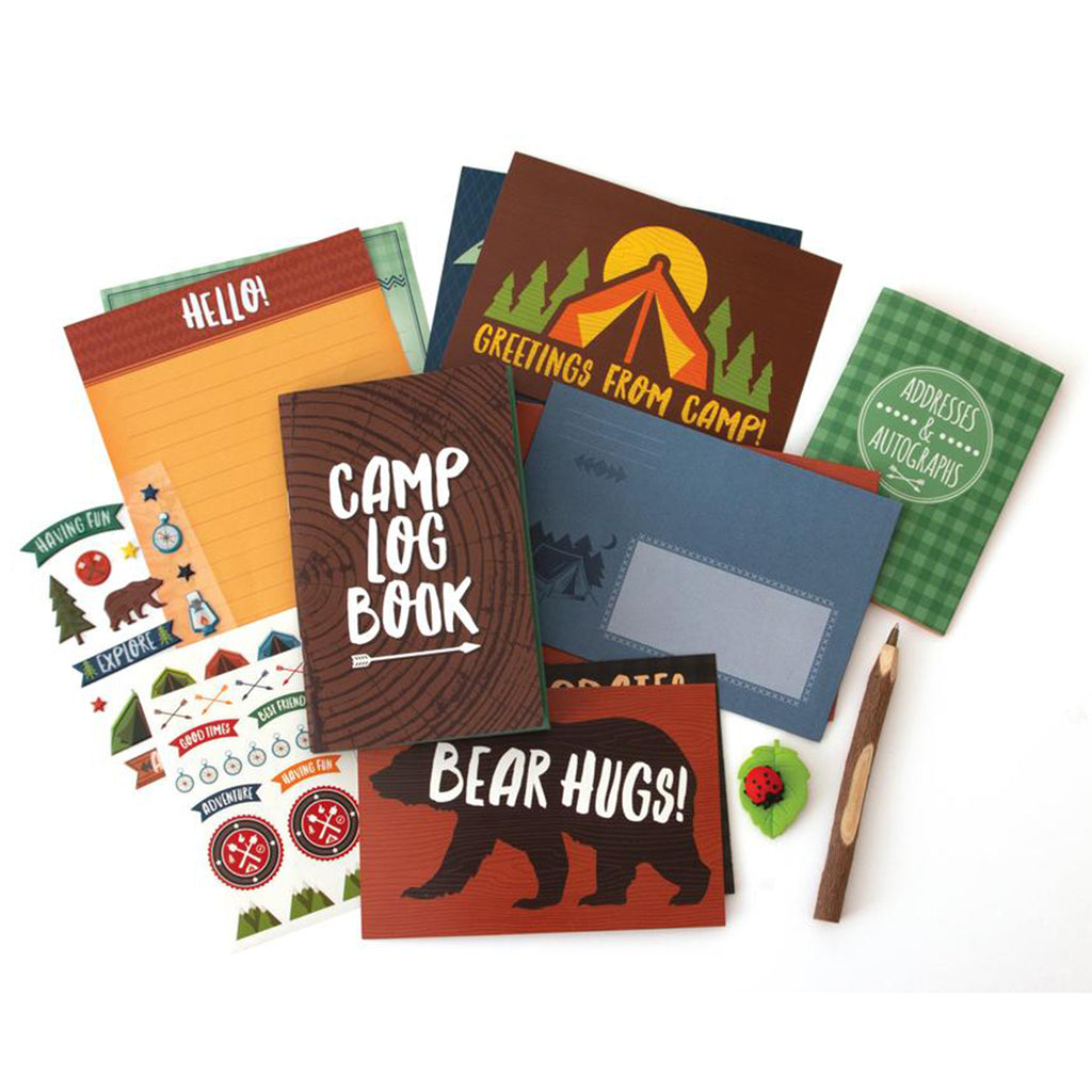 adventures at camp stationery set