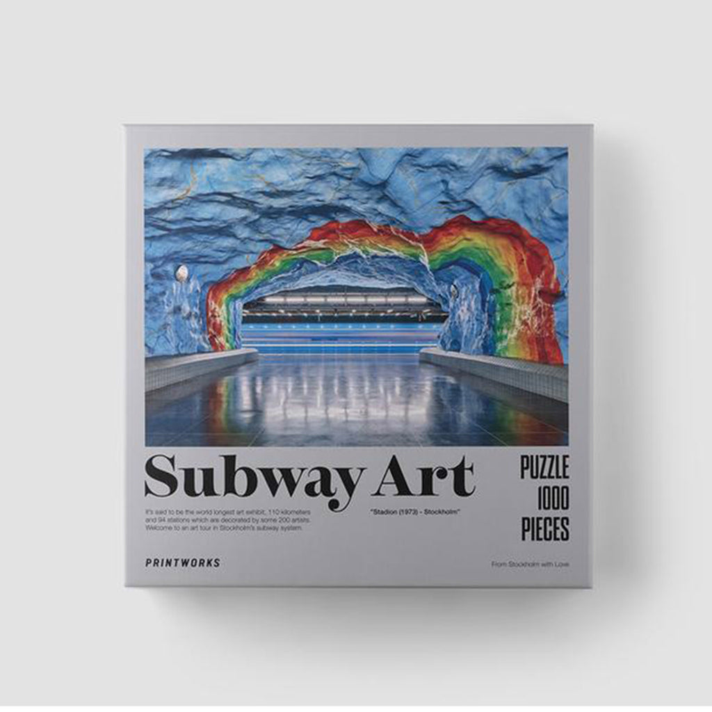 printworks 1000 piece subway art rainbow jigsaw puzzle in packaging