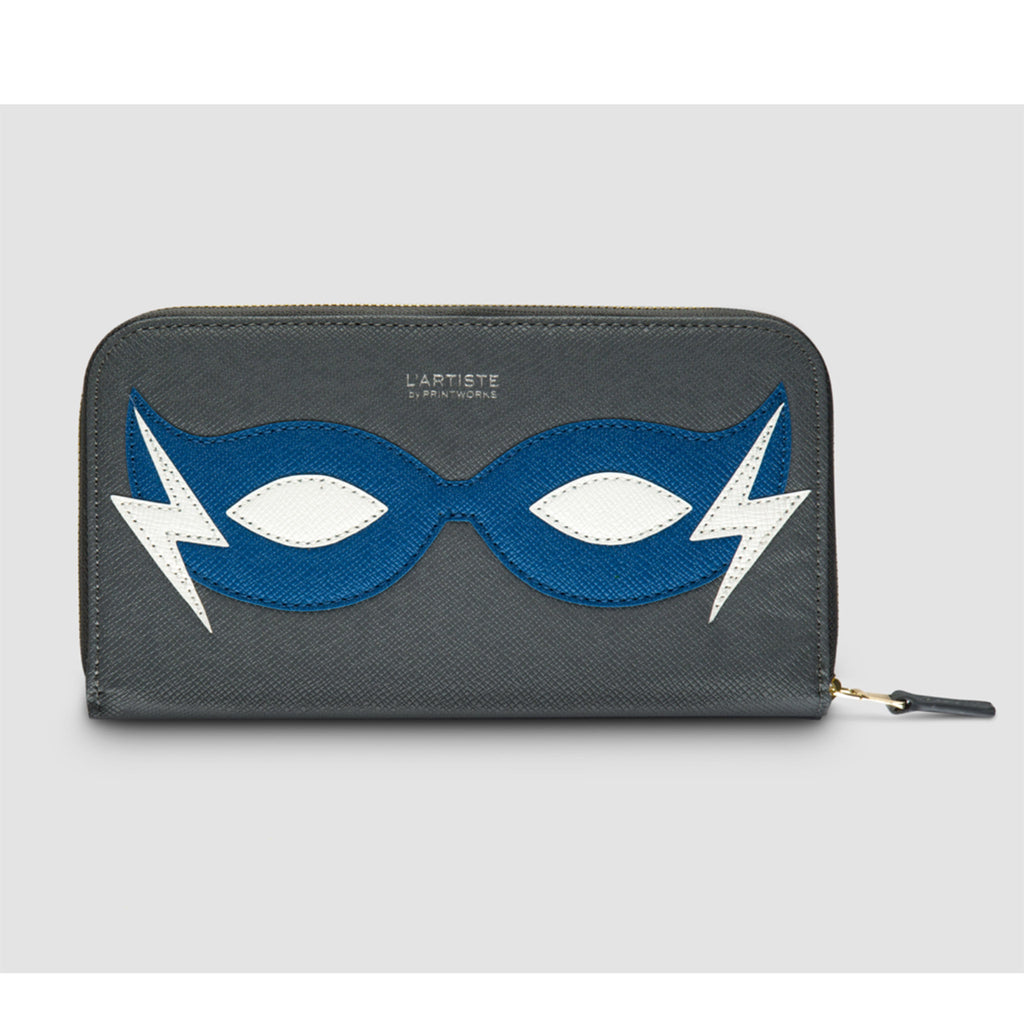 printworks blue super hero pencil case with art supplies closed