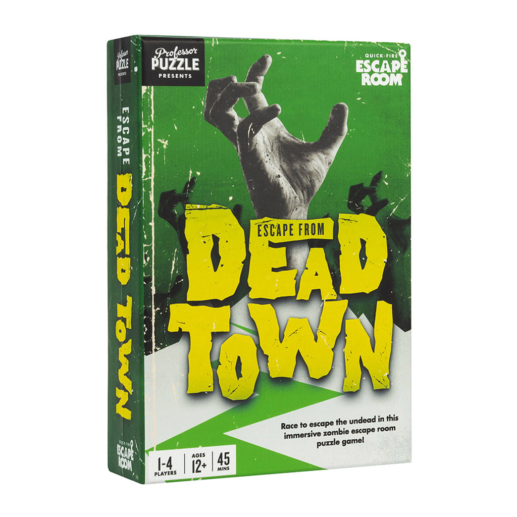 professor puzzle escape from dead town game box front