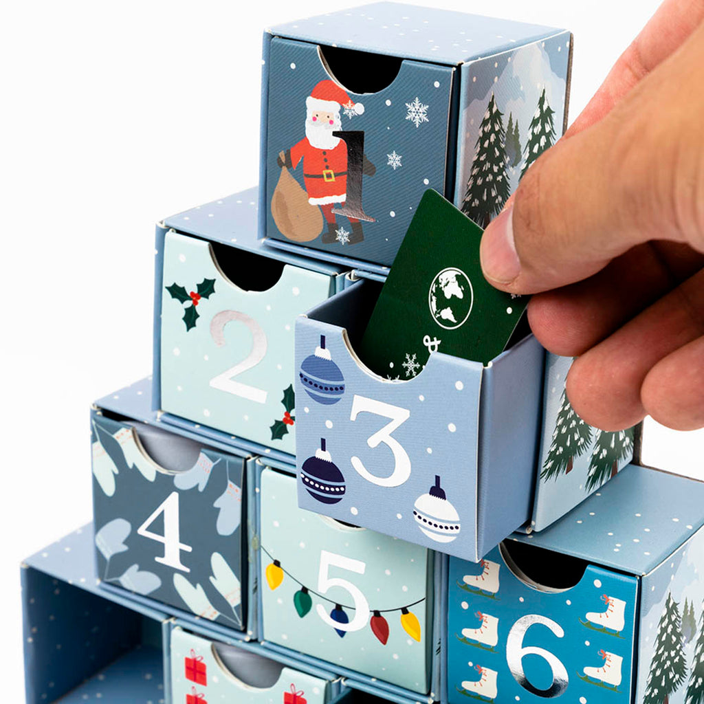 professor puzzle 2019 festive 12 days of christmas brainteasers countdown advent calendar pulling puzzle out of drawer