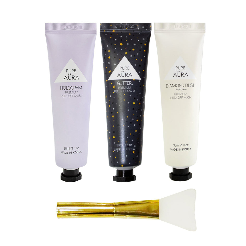 pure aura transcendence peel off mask travel kit contents