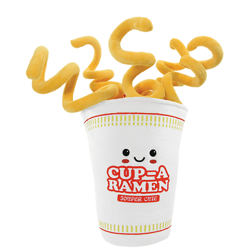 iscream cup a ramen decorative kids plush pillow with removable noodles