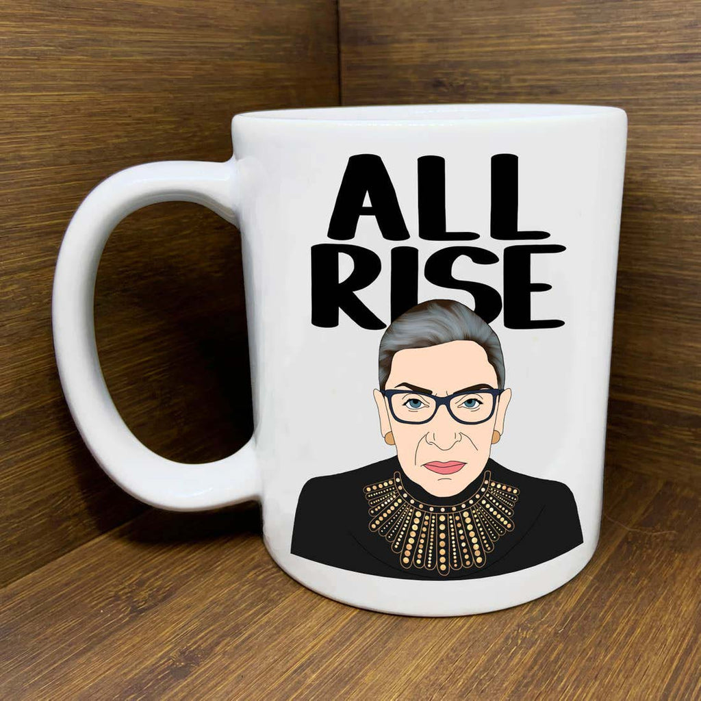 citizen ruth rbg supreme court justice ruth bader ginsberg all rise ceramic coffee mug