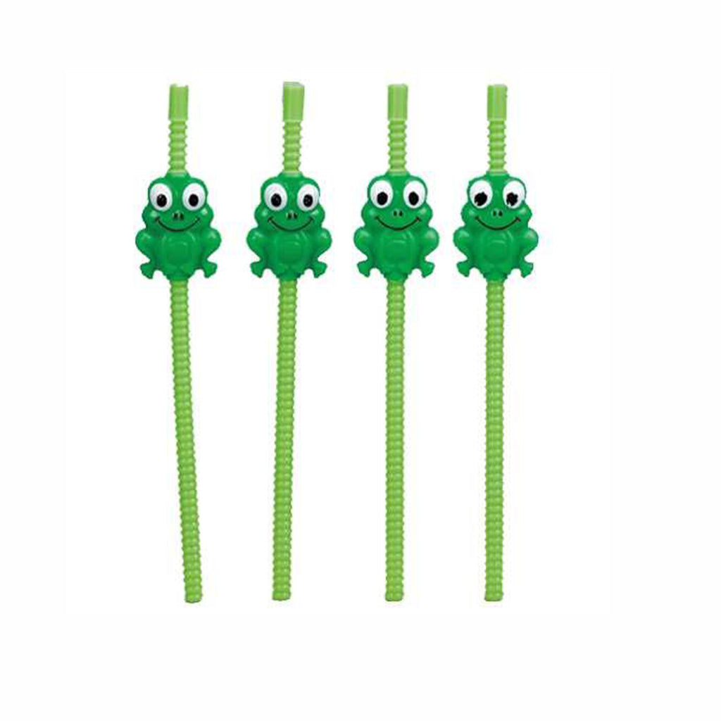rite lite passover set of four green plastic frog straws